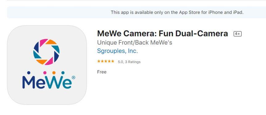 "BRAND NEW: ""MeWe Camera"" StandaloneApp"