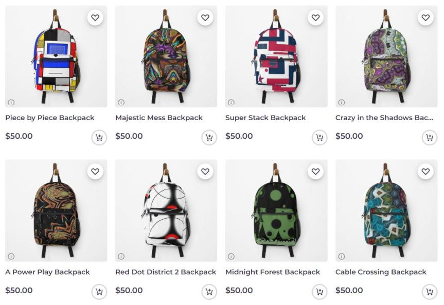 Backpacks and Duffle Bags now at Redbubble