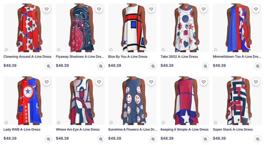 Dresses for your 4th of July celebration