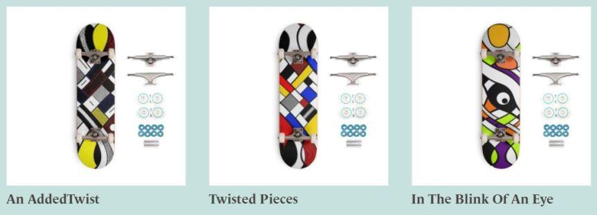 Skateboards 700 designs 3styles